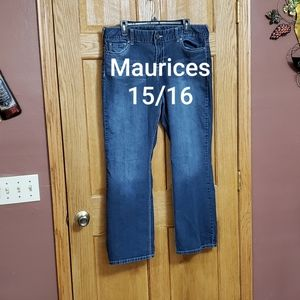 Maurices Straight Jeans Size 15/16